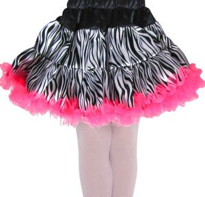 Girls Zebra Tulle Skirt