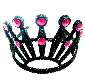 Black Tiara with Fuchsia Stones