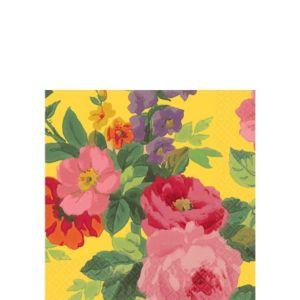 Bright Roses Beverage Napkins 16ct