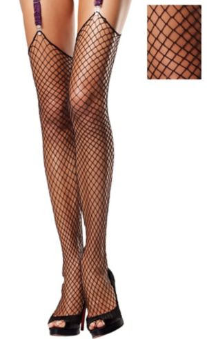 Adult Heavy Net Thigh High Stockings