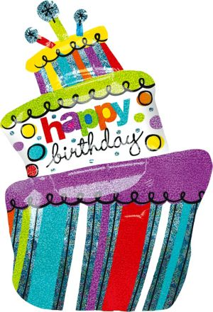 Happy Birthday Cake Balloon