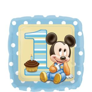 1st Birthday Mickey Mouse Balloon