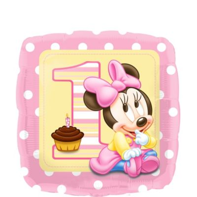 Baby Minnie Mouse 1st Birthday Balloon