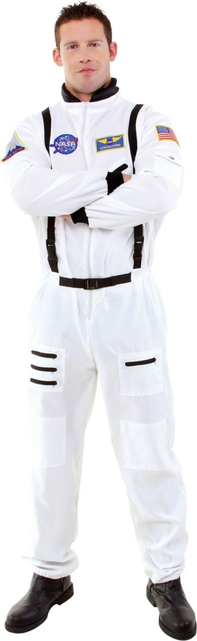 Adult White Astronaut Costume