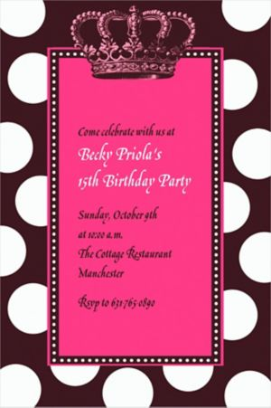 Custom Rocker Princess Invitations