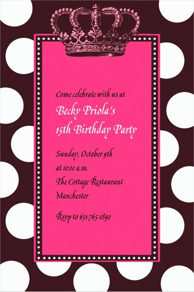 Rocker Princess Custom Invitation