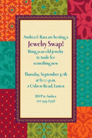 Custom Boho Patchwork Invitations