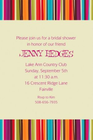 Custom Stripe Style Invitations