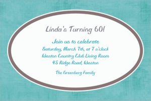 Custom Turquoise Border Invitations