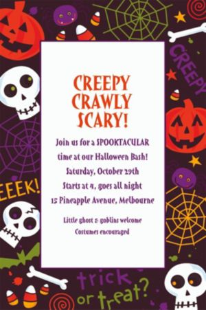 Custom Spooktacular Halloween Invitations