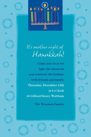 Custom Hanukkah Wishes Invitations