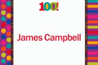Birthday Dots & Stripes 100 Custom Thank You Note
