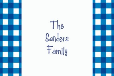 Custom American Summer Blue Gingham Thank You Notes