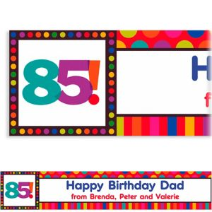 Custom Birthday Dots & Stripes 85th Banner 6ft