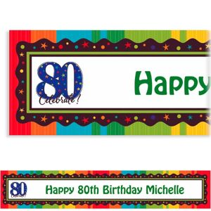 Custom A Year to Celebrate 80th Banner 6ft