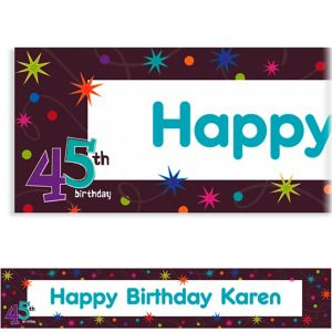 Custom The Party Continues 45th Banner 6ft