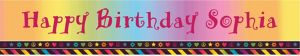 Custom Neon Birthday Girl Banner 6ft