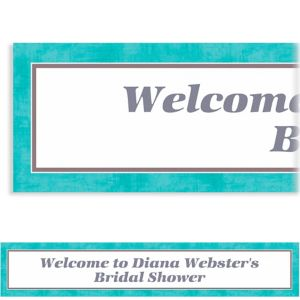 Custom Turquoise Border Banner 6ft