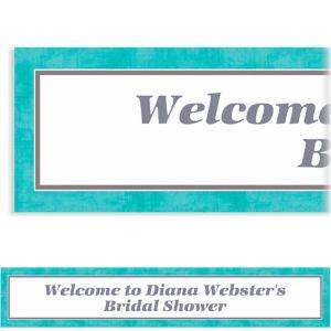 Custom Turquoise Border Banner 6ft