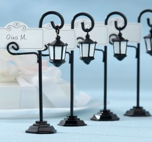 Black Streetlight Place Card Holders