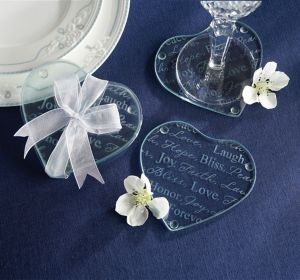 Heart Glass Coasters
