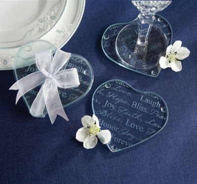 Heart of Glass Coaster 2ct