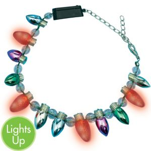Light-Up Christmas Bulb Bracelet
