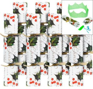 Holly Christmas Crackers 8ct