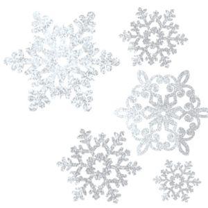 Glitter Snowflake Cutouts 20ct