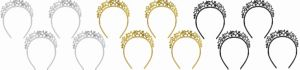 Sparkling Stars Headbands 12ct