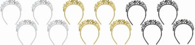 Sparkling Stars Headbands 4ct