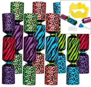 Colorful Animal Print Crackers 8ct
