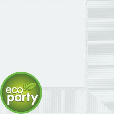 Eco White Dinner Napkins 50ct