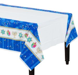Hanukkah Celebrations Plastic Table Cover