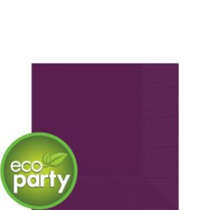 Eco-Friendly Plum Beverage Napkins 50ct