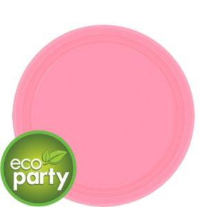 Eco-Friendly Pink Paper Dessert Plates 24ct