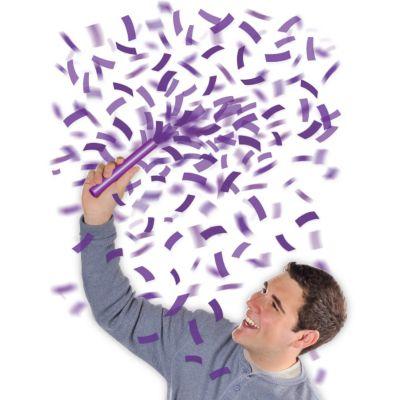 Purple Flutter Confetti Wands 6ct