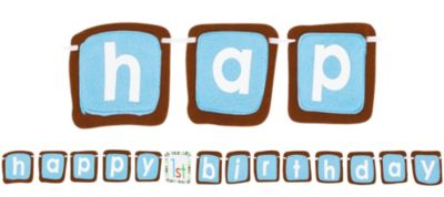 Blue Sweet at One 1st Birthday Banner