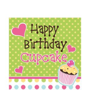 Cupcake Party Birthday Lunch Napkins 16ct