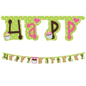 Cupcake Party Banner 7ft