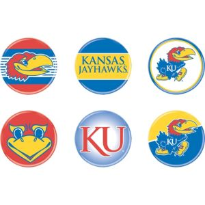 Kansas Jayhawks Buttons 6ct
