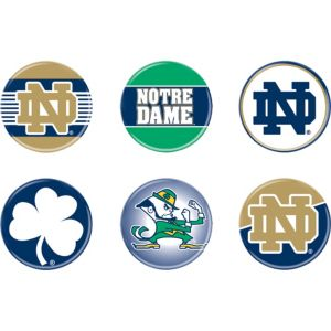 Notre Dame Fighting Irish Buttons 6ct