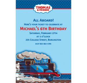Custom Thomas the Tank Engine Invitations