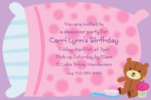Custom Sleepover Invitations