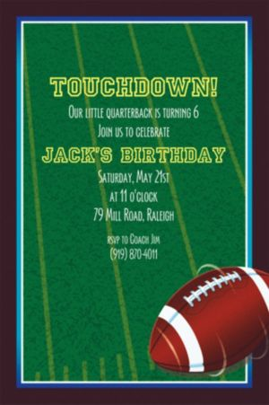 Custom The Big Game Invitations