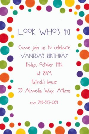 Custom Party Birthday Invitations