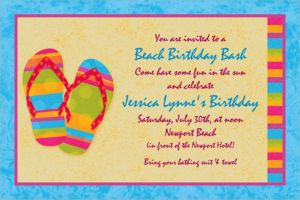 Custom Flip Flops Summer Invitations