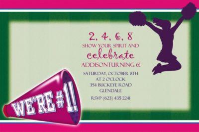 Cheerleading Custom Invitation