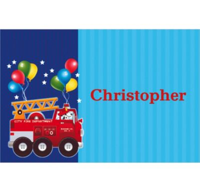 Custom Fire Engine Fun Thank You Notes
