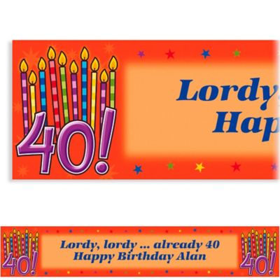 Custom Great Birthday 40th Banner 6ft